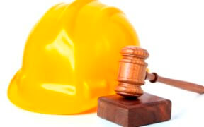 Hard hat and gavel
